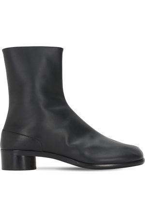 Maison Margiela 30mm Tabi Leather Ankle Boots