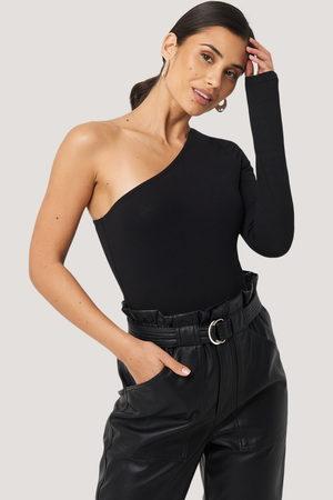 NA-KD One Shoulder Body - Black