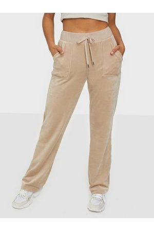Juicy Couture Naiset Collegehousut - Del Ray Classic Velour Pant Taupe
