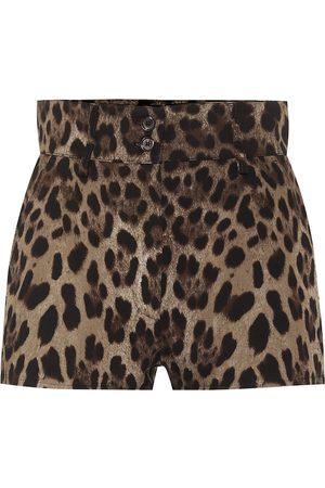 Dolce & Gabbana Leopard stretch-cotton shorts