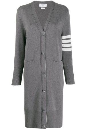 Thom Browne Naiset Päällystakit - 4-Bar stripe cardi-coat