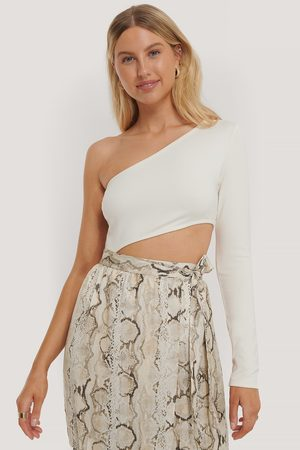 NA-KD Yksiolkaiminen Cut Out -Body - Offwhite
