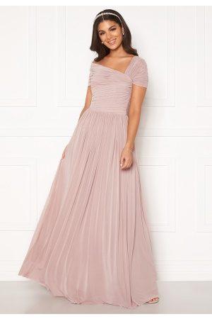 Nicole Falciani X Bubbleroom Naiset Maksimekot - Nicole Falciani Mesh Gown Pink 34