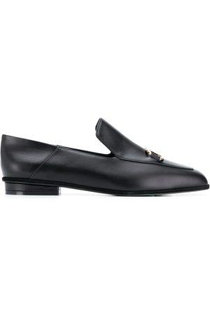 Salvatore Ferragamo Square-toe leather loafers