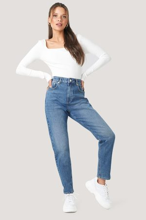 NA-KD Mom Jeans - Blue
