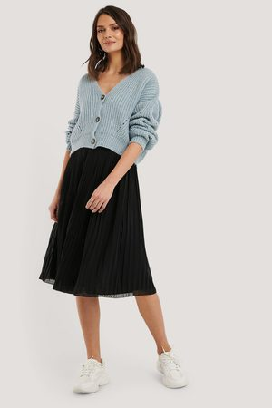 NA-KD Pleated Midi Skirt - Black