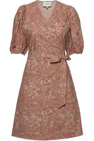 Second Female Straw Ss Short Dress Lyhyt Mekko Beige
