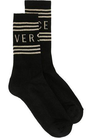 Versace Miehet Sukat - Logo stripe socks