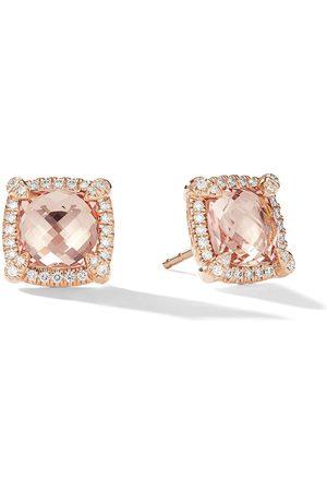 David Yurman 18kt rose gold Châtelaine diamond and morganite studs