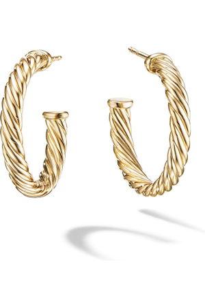 David Yurman 18kt yellow gold small Cablespira hoops