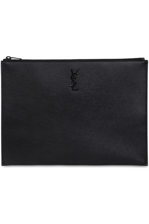 Saint Laurent Miehet Lompakot - Leather Grain Logo Pouch