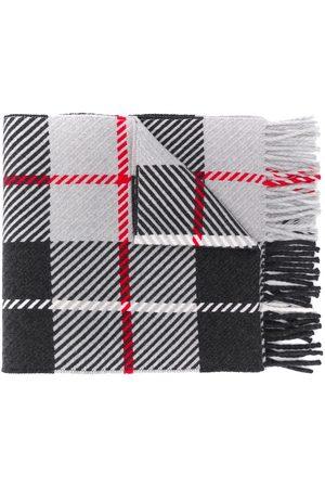 MACKINTOSH Huivit - Fringed tartan scarf