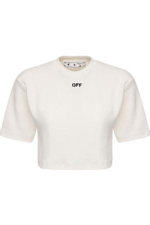OFF-WHITE Off Cotton Blend Jersey T-shirt