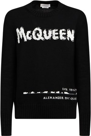 Alexander McQueen Graffiti Intarsia Cotton Knit Sweater