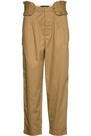 Scotch&Soda Clean Twill Chino With Detachable Pleated Belt Chinot Housut Ruskea