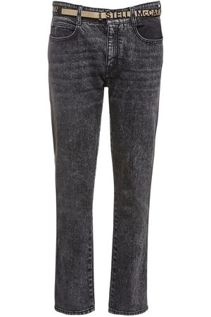 Stella McCartney Naiset Boyfriend - Eco Denim Skinny Boyfriend Jeans W/ Belt