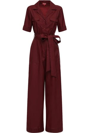Staud Recycled Nylon Jumpsuit W/ Belt