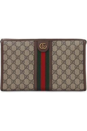 Gucci Gg Supreme Canvas & Web Toiletry Bag