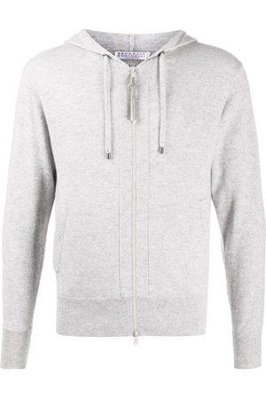 Brunello Cucinelli Naiset Hupparit - Zipped drawstring hoodie