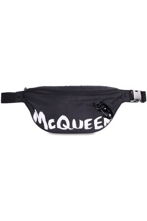 Alexander McQueen Logo Graffiti Print Nylon Belt Bag