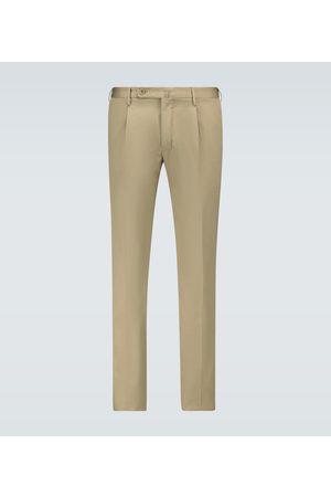 Incotex Miehet Chinot - Single-pleated chino pants