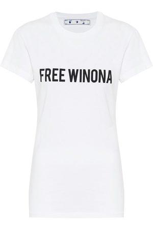 OFF-WHITE Naiset T-paidat - Printed cotton-jersey T-shirt