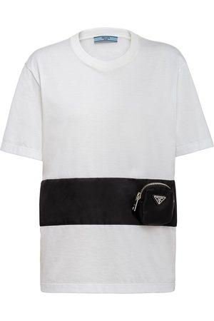 Prada Zip-pocket cotton T-shirt