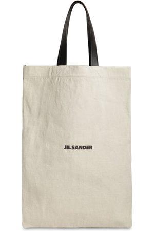 Jil Sander Naiset Ostoskassit - Maxi Flat Canvas Tote Bag