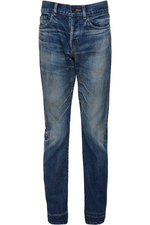Saint Laurent Miehet Slim Fit - 17cm Logo Slim Fit Cotton Denim Jeans