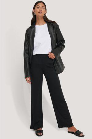 NA-KD Joustinneulotut Jerseyhousut - Black