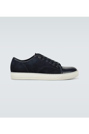 Lanvin Suede and leather cap-toe sneakers