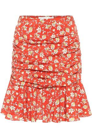 VERONICA BEARD Taras floral stretch-silk miniskirt