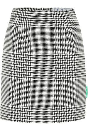 OFF-WHITE Houndstooth high-rise miniskirt