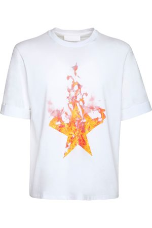 Neil Barrett Fired Star Print Cotton Jersey T-shirt