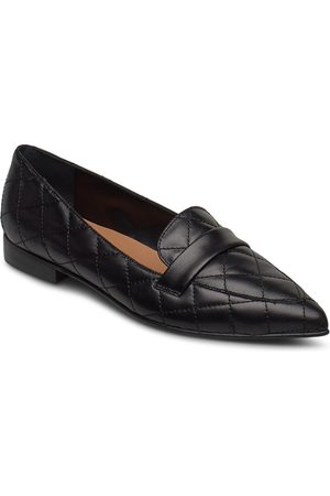 Flattered Alexandra Black Quilted Leather Loaferit Matalat Kengät