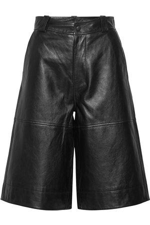 Ganni Naiset Nahkahousut - Lamb Leather Leather Leggings/Housut