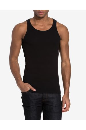 Bread & Boxers Ribbed Tank Top T-shirts & linnen Svart