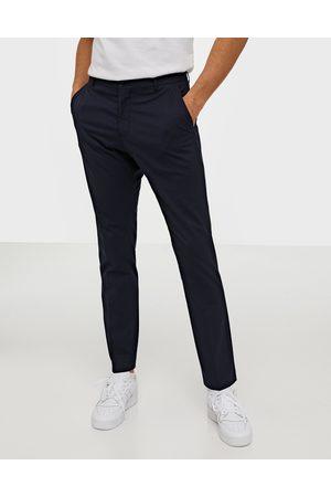 Selected Slhslim-Mylologan Navy Trouser B No Byxor Mörk Blå