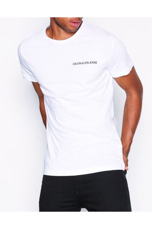 Calvin Klein Chest Institutional Slim Tee T-shirts & linnen Bright White