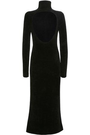 Jil Sander Naiset Poolopaidat - Turtleneck Velour Dress W/back Cut Out