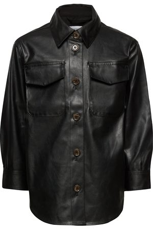 Designers Remix Lapset Nahkatakit - G Marie Shirt Coat Outerwear Jackets & Coats Leather Jacket
