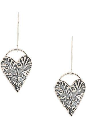 Petite Grand Engraved Heart earrings