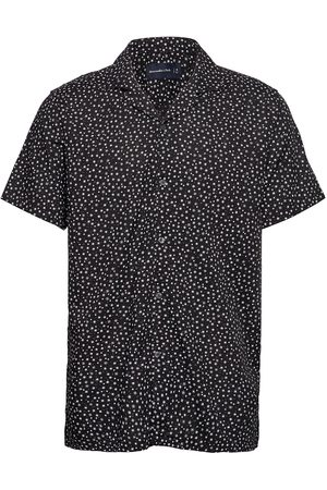 Abercrombie & Fitch Short-Sleeve Camp Collar Button-Up Shirt Lyhythihainen Paita