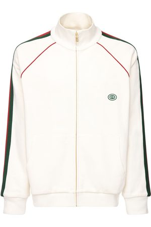 Gucci Gg Patch & Web Cotton Track Jacket