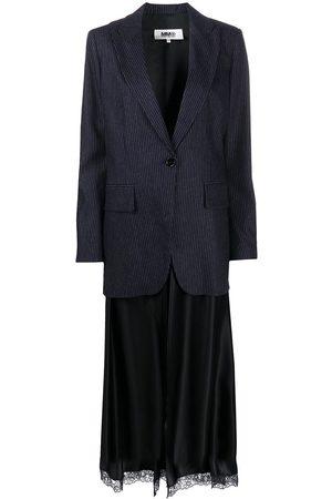 MM6 MAISON MARGIELA Layered-slip pinstripe blazer