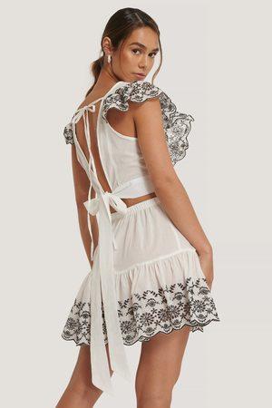Trendyol Naiset Setit - Embroidered Summer Set - White
