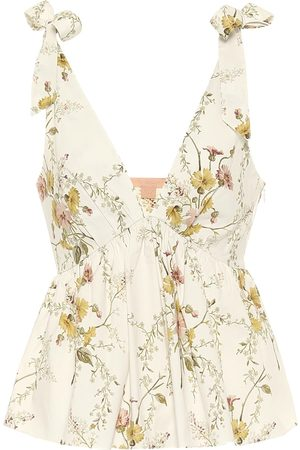 BROCK COLLECTION Ribes floral cotton-poplin top