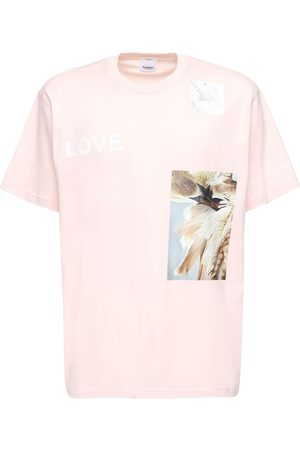 Burberry Miehet T-paidat - Printed Cotton Jersey T-shirt