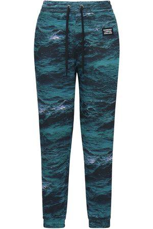 Burberry Miehet Collegehousut - Printed Cotton Jersey Sweatpants W/ Tape