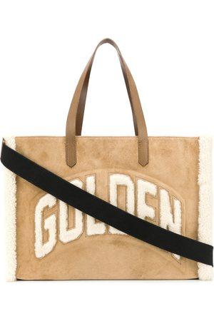 Golden Goose Naiset Ostoskassit - Textured fleece logo tote bag